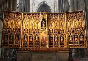 Poor Clares - Gothic altar in Cologne Cathedral dedicated to Poor Clare saints