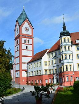 Ansicht Kloster Scheyern Pforte u. Glockenturm