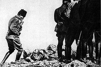 Battle of Dumlupınar - Mustafa Kemal Pasha at Kocatepe, Afyonkarahisar