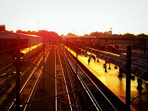 Kollam Junction railway station - An evening view.jpg