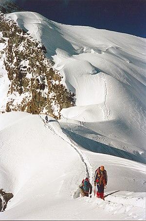 Peak Korzhenevskaya - Descent from Korzhenevskaya. Jaan Künnap.