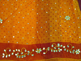 Kota, Rajasthan - Kota Sari with Gota Patti embroidery