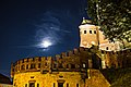 Krakow Castle at night with full moon.jpg