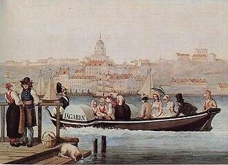 1849 in Sweden - Kullor-vevbåt 1849