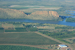 Lake Kununurra vom Packsaddle Lookout aus