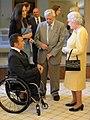 Kurt Fearnley, Bart Cummings and Queen Elizabeth II 28.jpg