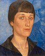 Kuzma Petrov-Vodkin.  Retrato de Anna Akhmatova.  1922.jpg