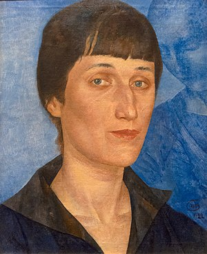 Kuzma Petrov-Vodkin - 1922 portrait, Anna Akhmatova