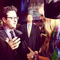 Kylie Speer interviewing J.J. Abrams at the Star Trek Into Darkness Australian premiere in 2013.JPG