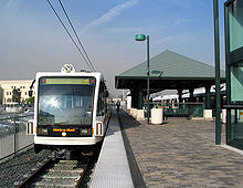 A Gold Line train pulls into Los Angeles Union Station.