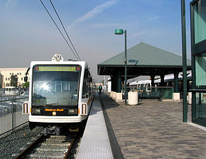 Union Station (Los Angeles) - Metro Gold Line train at Union Station