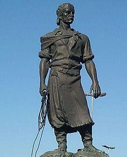 Estátua do Laçador, em sua antiga localização