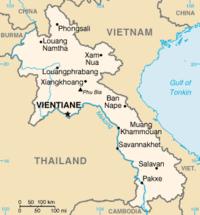 Mapa de Laos.