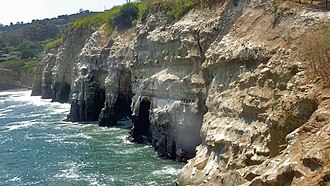 "La Jolla Cove - The ""7 caves"" of La Jolla, just north of the cove."