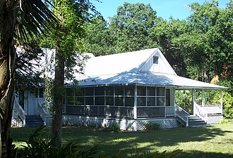 National Register of Historic Places listings in Hendry County, Florida - Image: Labelle FL Caldwell Home 01