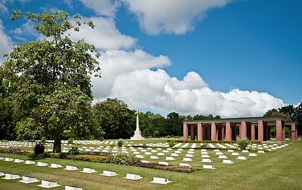 Part of the Labuan War Cemetery in 2011 Labuan WWII-Memorial.jpg