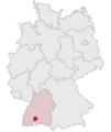 Lage des Landkreises Tuttlingen in Deutschland.png