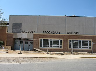 Lake Braddock Secondary School - A picture of Lake Braddock, during the height of renovation (April 2006)