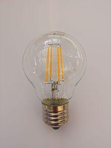 Lampadine A Led Quanti Watt.Lampada A Filamenti Led Wikipedia