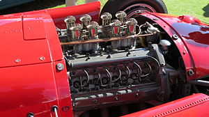 Formula One engines - A 2.5 L V8 in the Lancia-Ferrari D50