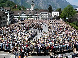 Direct democracy - A Landsgemeinde, or assembly, of the canton of Glarus, on 7 May 2006, Switzerland.