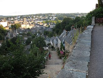 Lannion - View from the church of Brélévénez