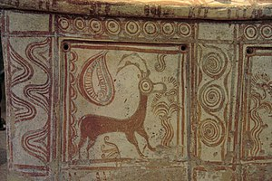 Archaeological Museum of Rethymno - Image: Larnax, ibex, Minoan, AM of Rethymno, 076116