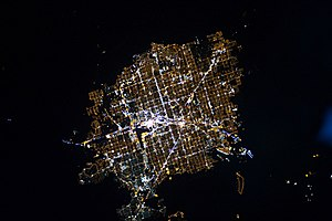 Las Vegas - Astronaut photograph of Las Vegas at night