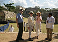 Laura Bush Uxmal Ballcourt.jpg