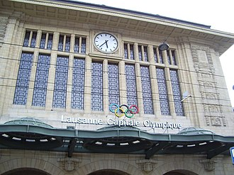 Lausanne railway station - Main (north) entrance to station