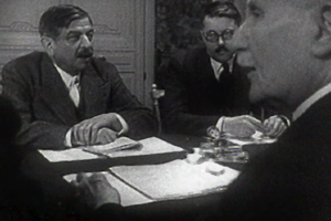 Épuration légale - Pierre Laval as seen in Frank Capra documentary film Divide and Conquer (1943)