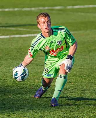 Lawrence Thomas (footballer) - Thomas playing for Melbourne Victory in 2012