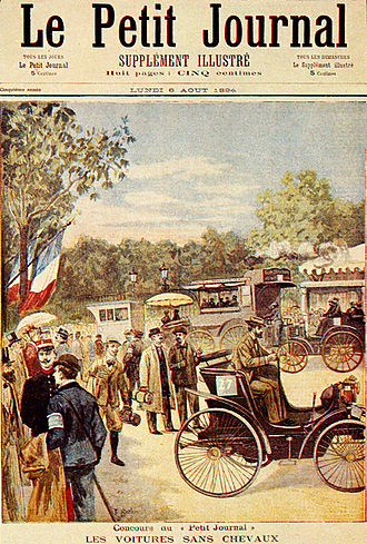 Paris–Rouen (motor race) - Image: Le Petit Journal 6 August 1894