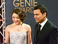 Leah Gibson, Adam Beach, Genie Awards 2012.jpg