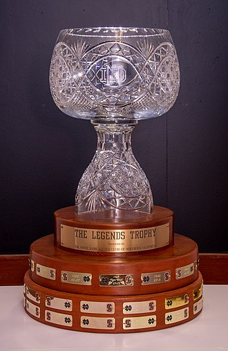 Notre Dame–Stanford football rivalry - Image: Legends Trophy reconditioned in 2014