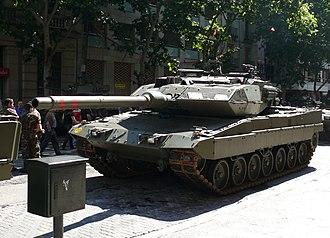 Leopard 2E - Spanish Leopard 2E in Zaragoza, June 2008