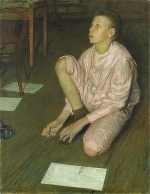 Leopold Graf von Kalckreuth - Image: Leopold von Kalckreuth Wolf, der Sohn des Künstlers (1900)