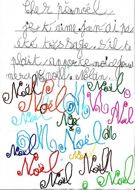 une lettre au pre nol