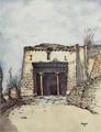 Lhasa - Facing P196-The great gateway of Gyantse jong.png