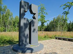 Liaudiškių miškas, holokausto paminklas.JPG