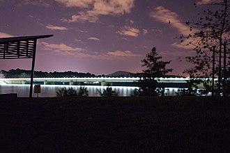 Scrivener Dam - Lights of the dam at night