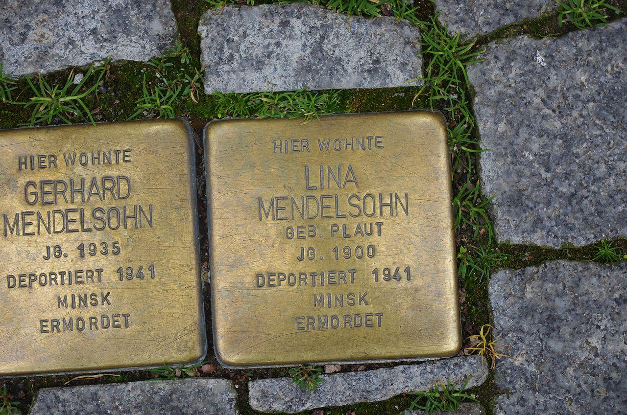 Lina Mendelsohn Stolperstein Lutherstadt Eisleben.jpg