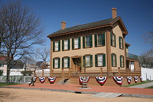 Mary Todd Lincoln - Lincoln Home,  Springfield, Illinois, Eighth and Jackson Streets, residence (1844–1861)