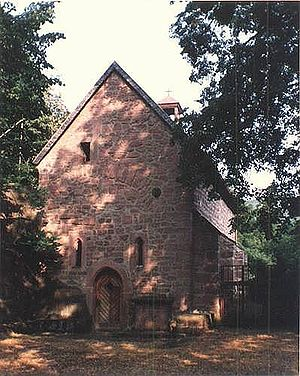 Lindenberg, Rhineland-Palatinate - Saint Cyriacus's Chapel in the moat at Lindenberg