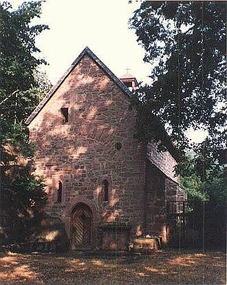 Lindenberg, Rhineland-Palatinate - Saint Cyriacus's Chapel in the moat at Lindenberg