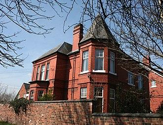 James Hall (historian) - Lindum House and schoolroom (left)