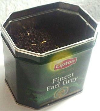 Lipton - A tin of loose Earl Grey tea