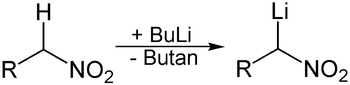Lithiierung eines Nitroorganyls.