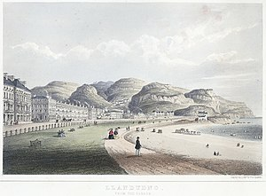 Llandudno - Llandudno, from the parade, 1860