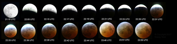 The 3 March 2007 total eclipse as seen from Leeds, England.
